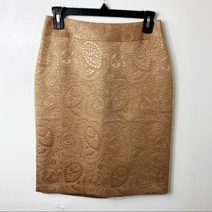 NEW $89 Banana Republic Tan Textured Pencil Skirt